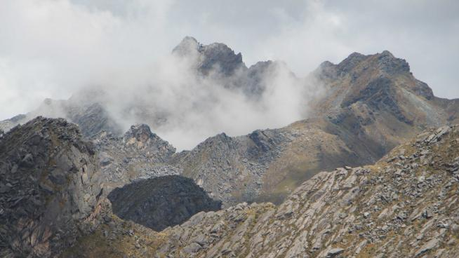 Image showing 'Climbing through the clouds'