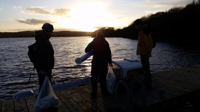 image showing the team Returning after a successful days collecting