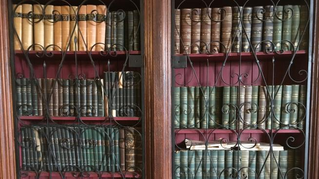 Bookcase in The Mansion at Wakehurst