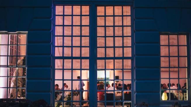 Orangery exterior nighttime