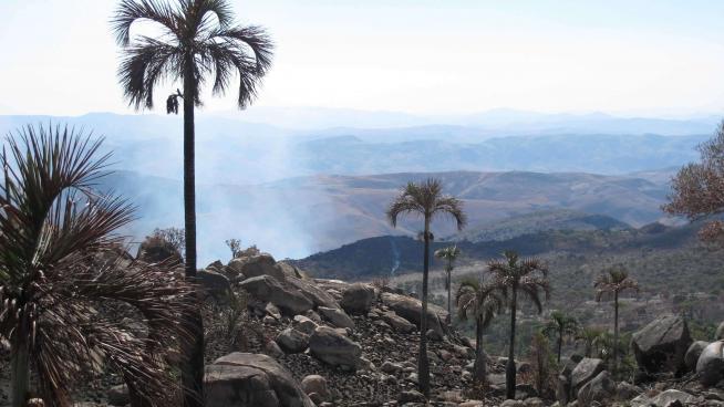 Burning vegetation in Madagascar (Itremo)