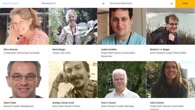 Kew Science staff profiles
