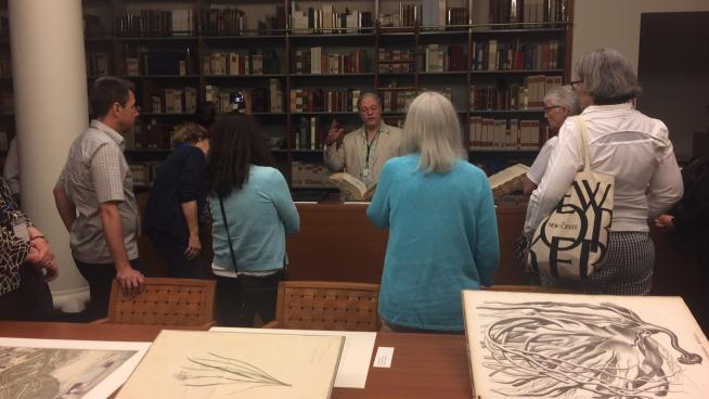 Image showing Stephen Sinon, Curator of Special Collections, Rare Book Room, Mertz Library, New York Botanical Garden