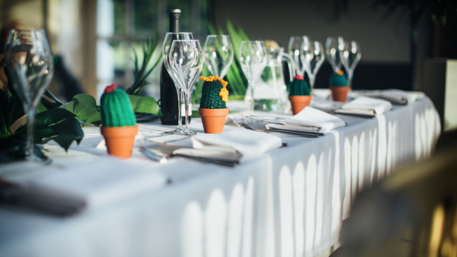 Table layout in the Orangery