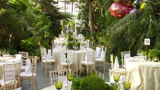 Table set up in the Temperate House