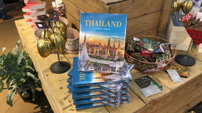 Thai-themed products in Kew's shop