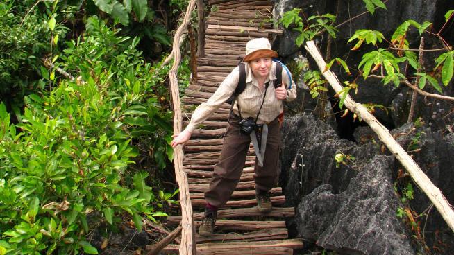 Kew botanist Ruth Clark in Thailand (Image: Paul Wilkin)