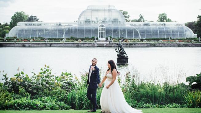Wedding photo shoot Palm House