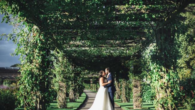 Wedding photo shoot Rose Pergola