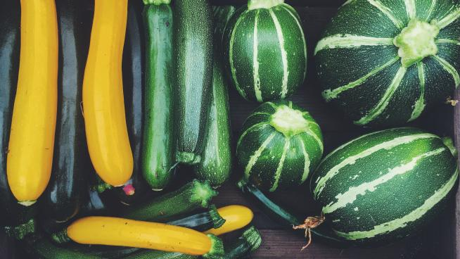 Courgettes in the Kitchen Garden