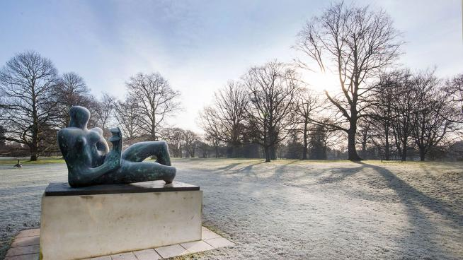 Henry Moore sculpture in the Arboretum at Kew