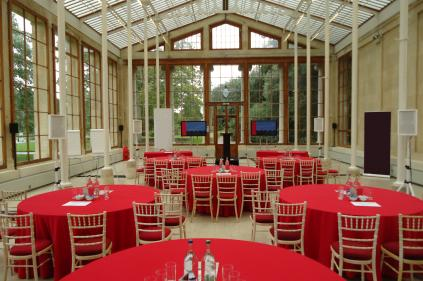 The Nash Conservatory set for a corporate presentation
