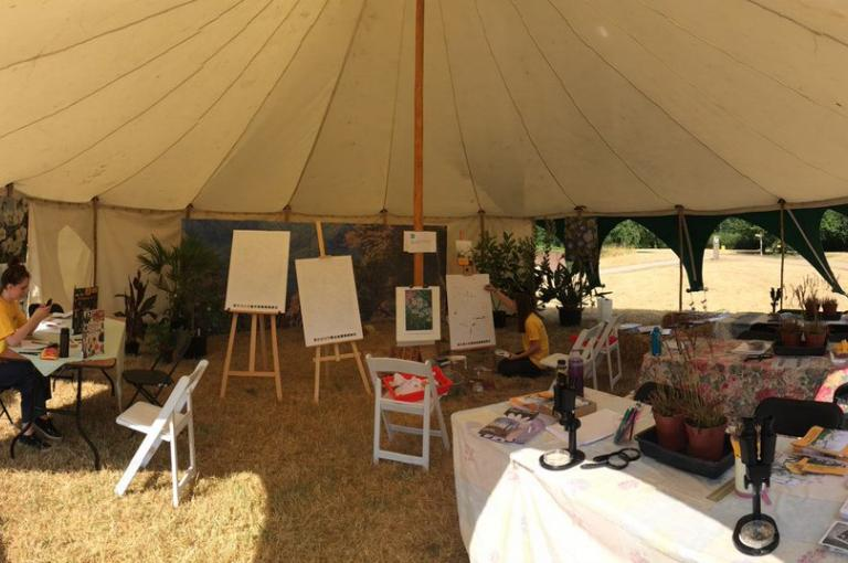 Botanical Studio stall at Wakehurst Science Festival 2018