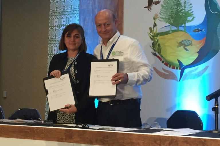 Kew & FMCN sign agreement to help save endemic and endangered Mexican flora
