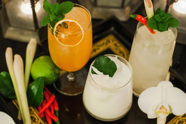 Thai cocktails for Kew's Orchids Festival (Image: White Label Cocktails)