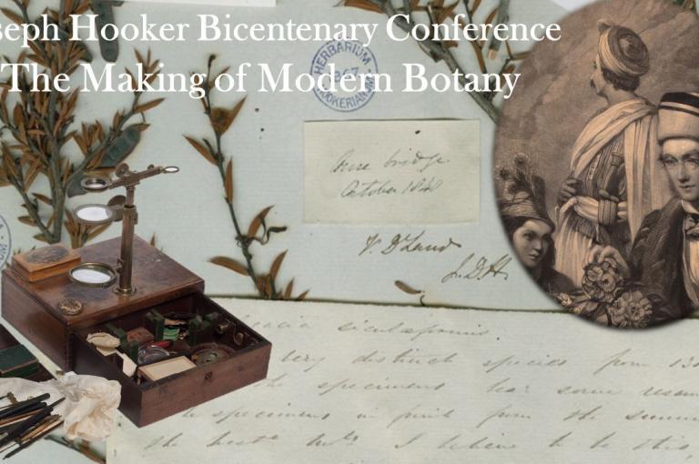 Making of Modern Botany' the Joseph Hooker bicentenary conference poster