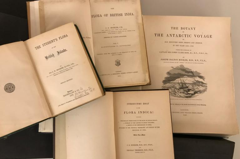 Title pages of some of Hooker publications