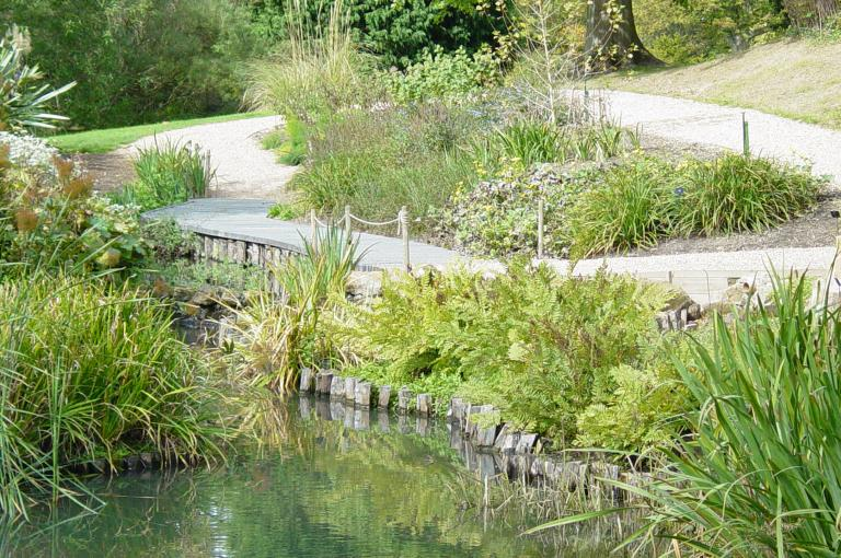 Bog garden and dipping platform at Wakehurst.