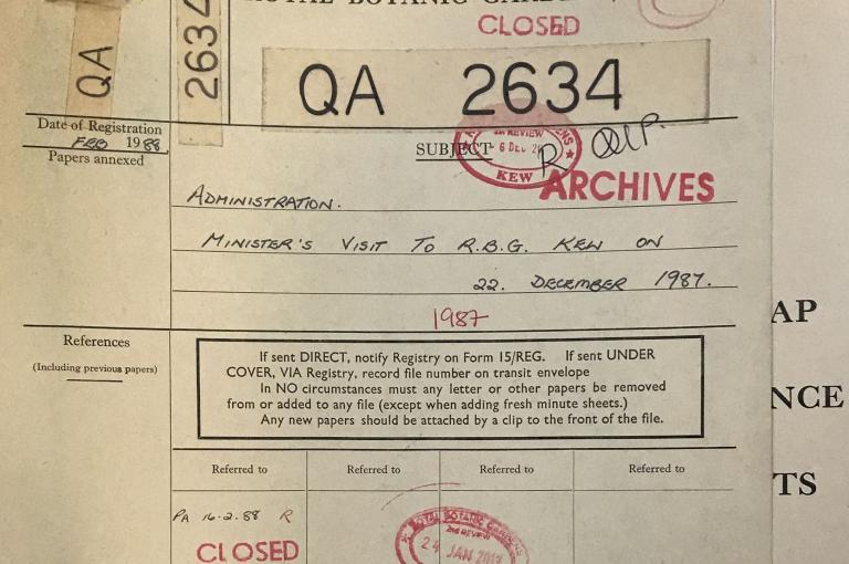 Kew Registry file