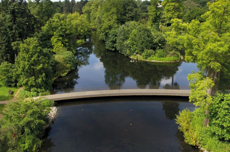 The Lake and Sackler Crossing at Kew