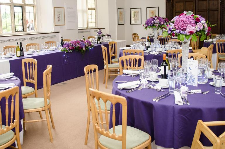 Wedding reception laid out inside the Mansion gallery - credit Emmest photography
