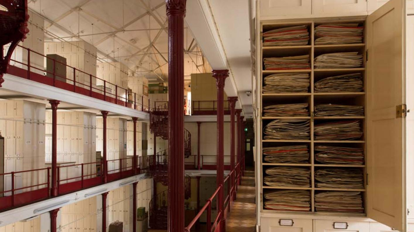 Inside the Herbarium with a cupboard open