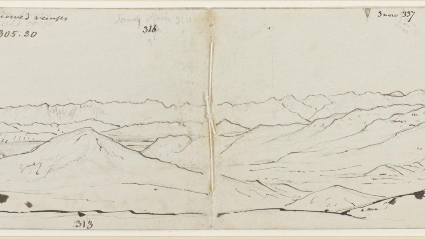 A sketch of the Himalayas by Joseph Hooker