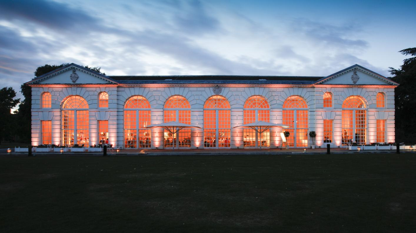 The Orangery at dusk