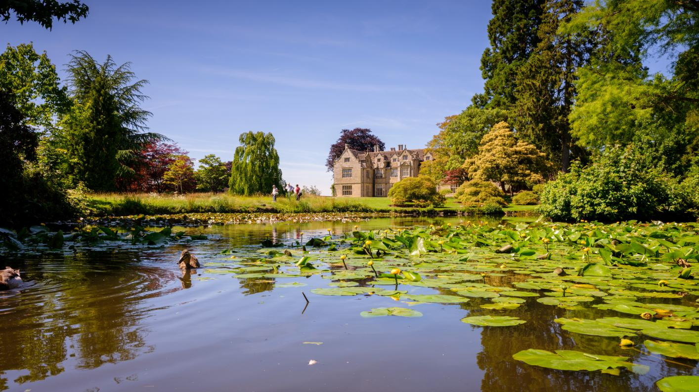 Wakehurst mansion and pond