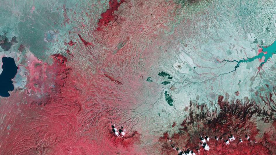 False colour imagery of rift valley