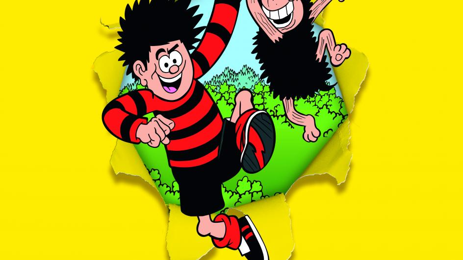 Dennis the Menace and Gnasher from Beano