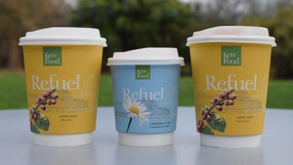 Kew's compostable coffee cups