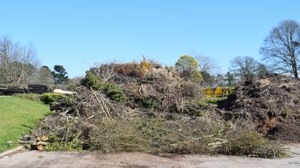 Plant waste to be composted at Wakehurst