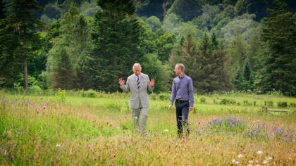 HRH The Prince of Wales visits Wakehurst's Coronation Meadow