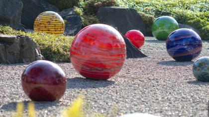 Chihuly 'Niijima Floats' in the Japanese Landscape at Kew Gardens