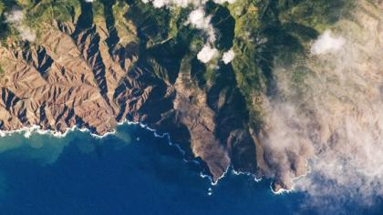 Aerial view of Saint Helena island