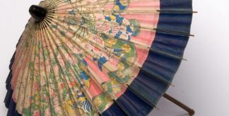 Sun umbrella made of paper