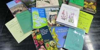 Photo of a selection of Kew publications