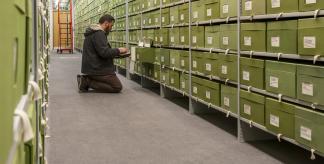 Specimen boxes in Kew's Fungarium