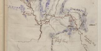 Sketch map of Sikkim by Joseph Hooker