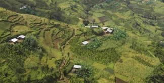 Ethiopian smallholder agriculture at Mananar Baya, Gamo Gofa Zone, Daramalo Woreda, Ethiopia.
