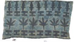 Image showing Fragment of barkcloth collected in the Solomon Islands by Lady Robinson in 1876 and conserved as a Master's project by Elizabeth Palacios, Centre for Textile Conservation, University of Glasgow (E. Palacios).