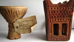 Incense burners. Left: collected by Sir Douglas Forsyth's mission to Yarkand, central Asia, 1871 (EBC 63412); right: From the Hadramut, Yemen, donated by the explorer Theodore Bent in 1895 (EBC 63411).