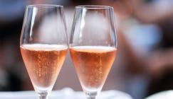 Glasses of pink fizz