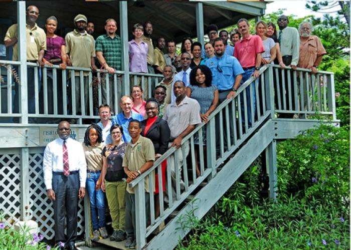 Image showing participants at the inception workshop held in the JR O'Neal Botanic Garden in Tortola, BVI.
