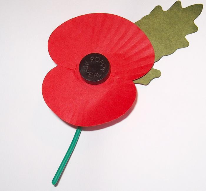Image of the Royal British Legion's Poppy Appeal poppy