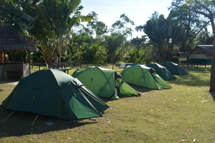 Image showing the campsite at Analalava forest reserve
