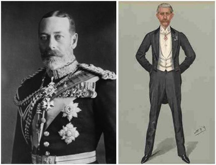 Images of George V and Sir George Lindsay Holford