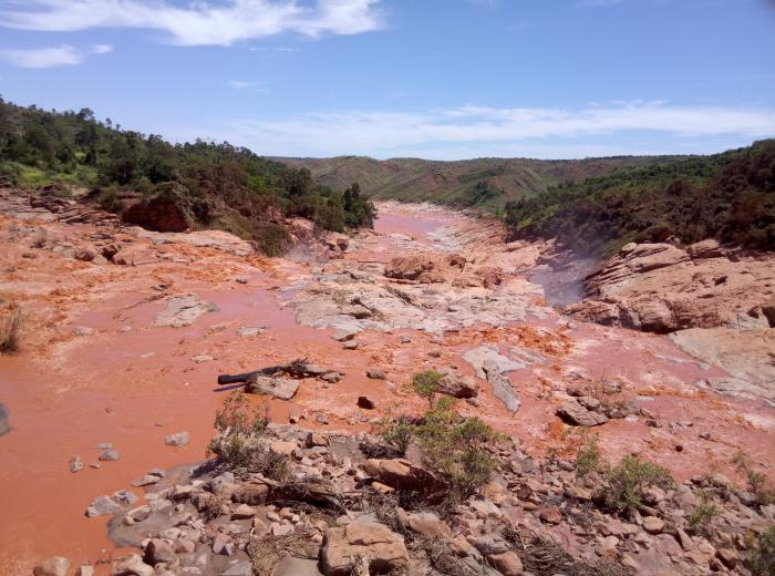 Image showing high rates of erosion are causing the Betsiboka River in western Madagascar to turn red