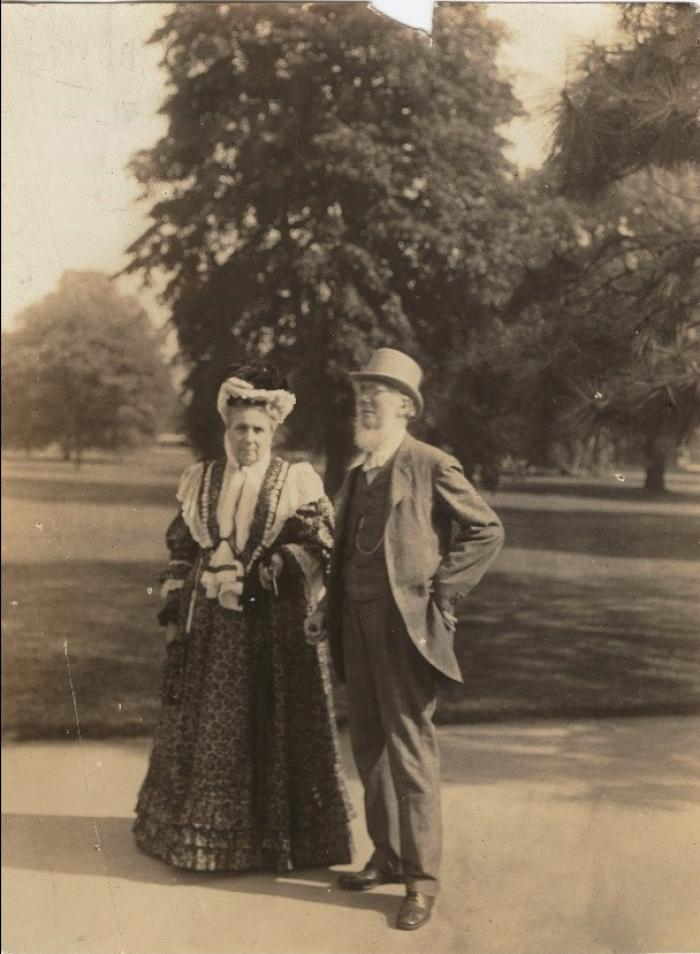 Photo of Joseph Hooker and Lady Hyacinth at Kew